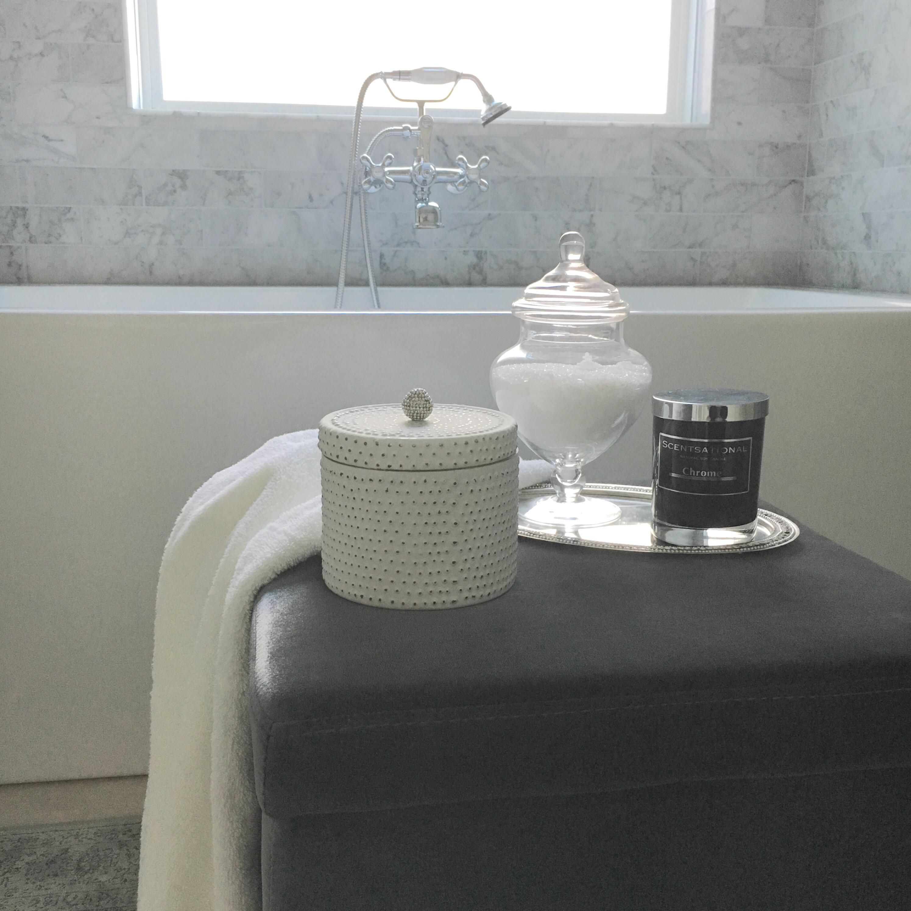 Bathroom ottoman