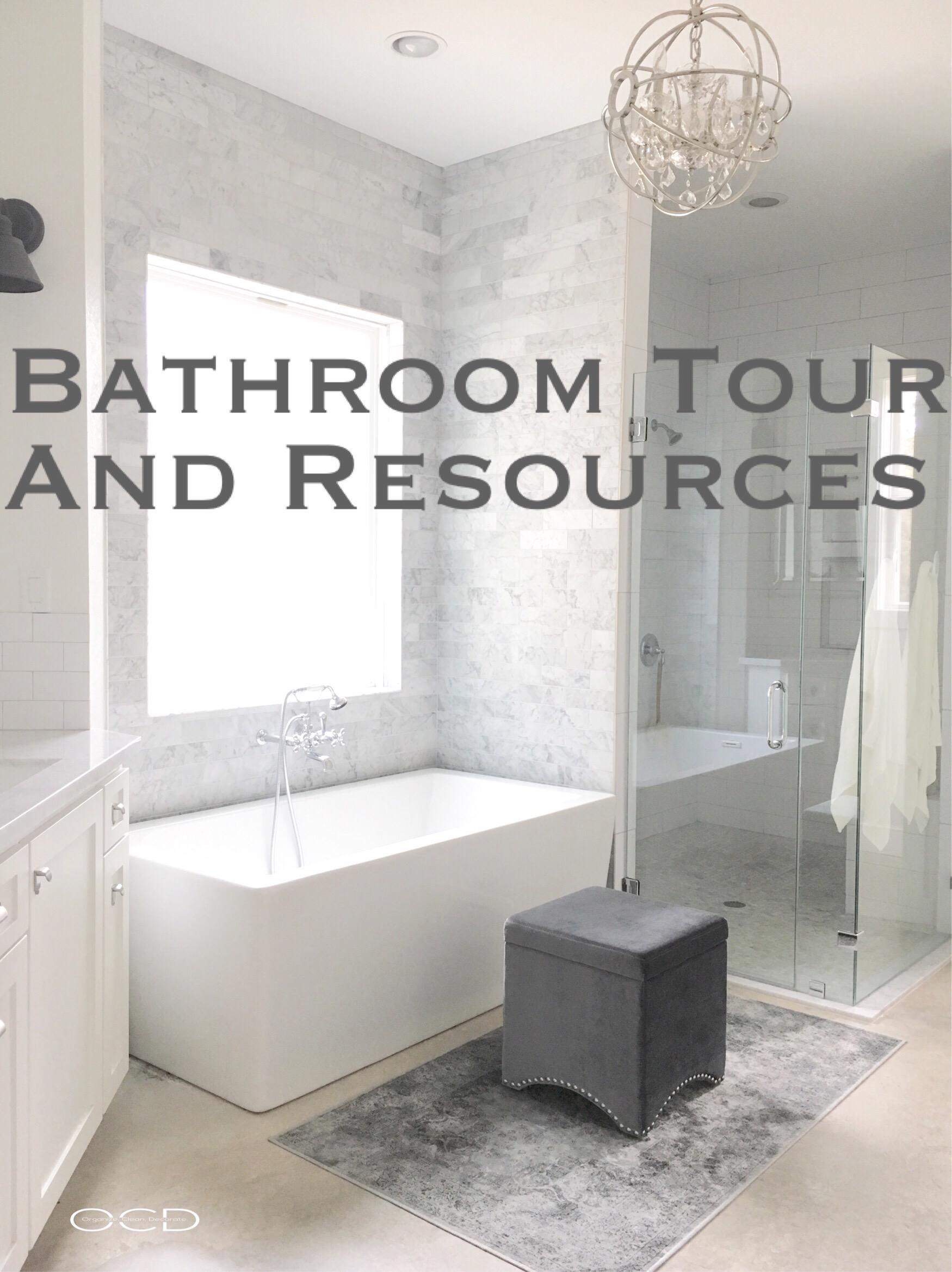 Freestanding tub marble white bathroom