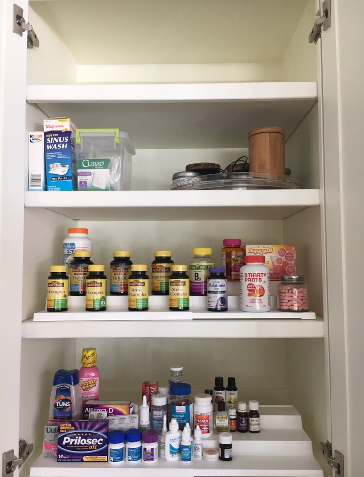 medicine cabinet kitchen organization