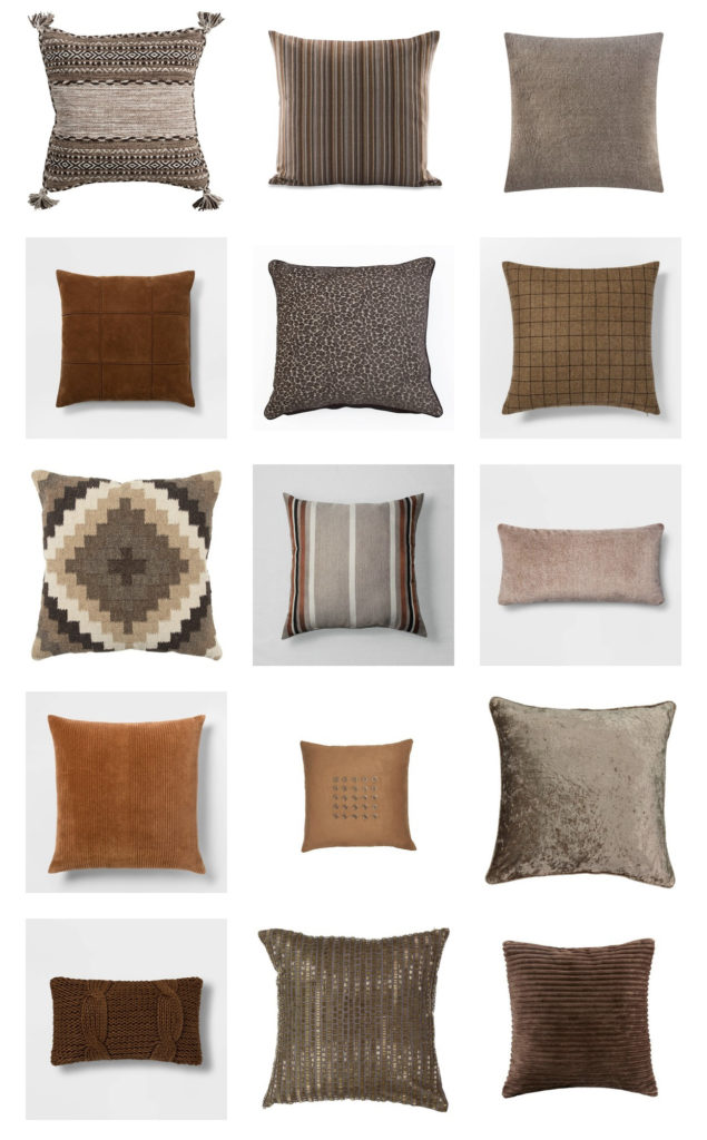 neutral fall decor pillows